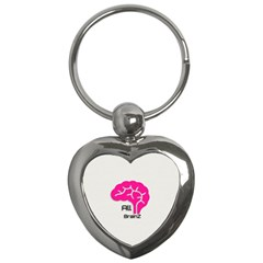 All Brains Leather  Key Chain (heart) by OCDesignss