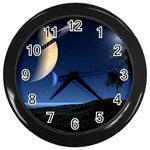 Space Wall Clock (Black)