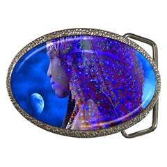 Moon Shadow Belt Buckle (oval) by icarusismartdesigns