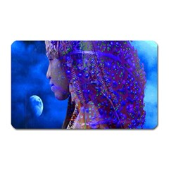Moon Shadow Magnet (rectangular) by icarusismartdesigns