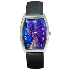 Moon Shadow Tonneau Leather Watch by icarusismartdesigns