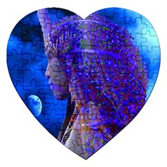 Moon Shadow Jigsaw Puzzle (heart) by icarusismartdesigns