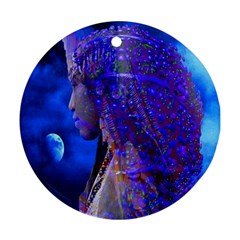 Moon Shadow Round Ornament (two Sides) by icarusismartdesigns