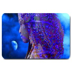 Moon Shadow Large Door Mat by icarusismartdesigns