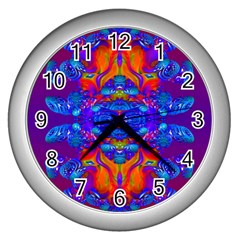 Abstract Reflections Wall Clock (silver) by icarusismartdesigns