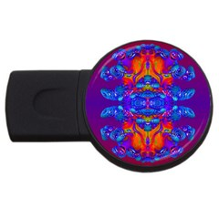 Abstract Reflections 4gb Usb Flash Drive (round) by icarusismartdesigns