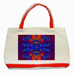 Abstract Reflections Classic Tote Bag (Red) by icarusismartdesigns