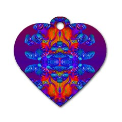 Abstract Reflections Dog Tag Heart (two Sided) by icarusismartdesigns