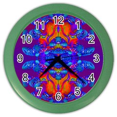 Abstract Reflections Wall Clock (color) by icarusismartdesigns