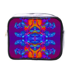 Abstract Reflections Mini Travel Toiletry Bag (one Side) by icarusismartdesigns