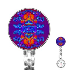 Abstract Reflections Stainless Steel Nurses Watch by icarusismartdesigns