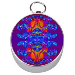 Abstract Reflections Silver Compass by icarusismartdesigns