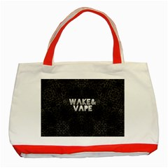 Wake&vape Leopard  Classic Tote Bag (red) by OCDesignss