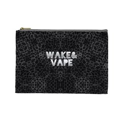 Wake&vape Leopard  Cosmetic Bag (large) by OCDesignss