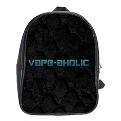 Vape Aholic Turquoise  School Bag (large) by OCDesignss