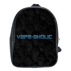 Vape Aholic Turquoise  School Bag (xl) by OCDesignss