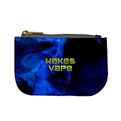 Wake&vape Blue Smoke  Coin Change Purse by OCDesignss
