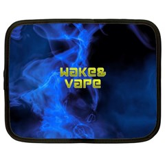 Wake&vape Blue Smoke  Netbook Sleeve (xl) by OCDesignss