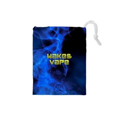 Wake&vape Blue Smoke  Drawstring Pouch (small) by OCDesignss