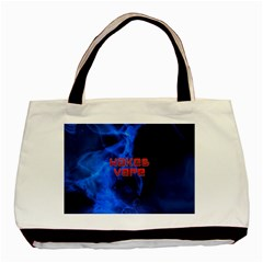 Wake&vape Blue Smoke  Twin Sided Black Tote Bag by OCDesignss