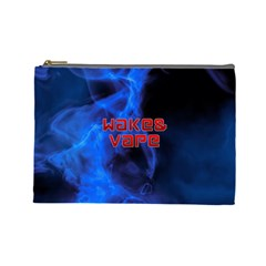 Wake&vape Blue Smoke  Cosmetic Bag (large) by OCDesignss