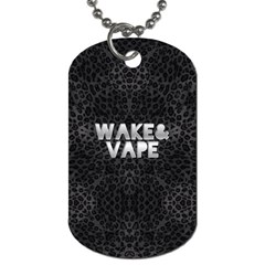 Wake&vape Leopard  Dog Tag (two Sided)  by OCDesignss
