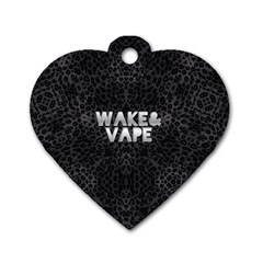 Wake&vape Leopard  Dog Tag Heart (one Sided)  by OCDesignss