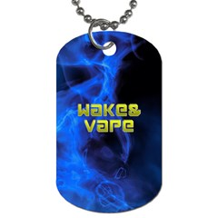 Wake&vape Blue Smoke  Dog Tag (one Sided) by OCDesignss