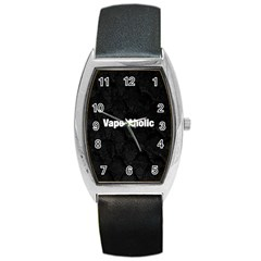 Vape Aholic Blk Snake  Tonneau Leather Watch by OCDesignss