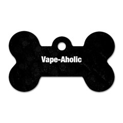 Vape Aholic Blk Snake  Dog Tag Bone (two Sided) by OCDesignss