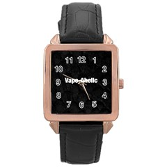 Vape Aholic Blk Snake  Rose Gold Leather Watch  by OCDesignss