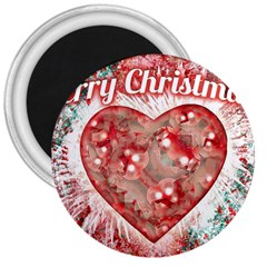 Vintage Colorful Merry Christmas Design 3  Button Magnet by dflcprints