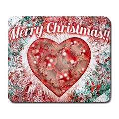 Vintage Colorful Merry Christmas Design Large Mouse Pad (rectangle) by dflcprints