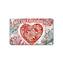 Vintage Colorful Merry Christmas Design Magnet (name Card) by dflcprints