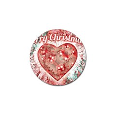 Vintage Colorful Merry Christmas Design Golf Ball Marker by dflcprints