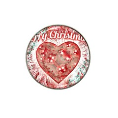 Vintage Colorful Merry Christmas Design Golf Ball Marker (for Hat Clip) by dflcprints