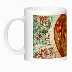 Vintage Colorful Merry Christmas Design Glow In The Dark Mug by dflcprints