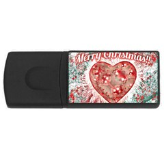 Vintage Colorful Merry Christmas Design 4gb Usb Flash Drive (rectangle) by dflcprints