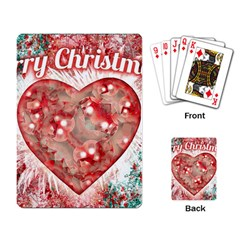 Vintage Colorful Merry Christmas Design Playing Cards Single Design by dflcprints
