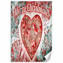 Vintage Colorful Merry Christmas Design Canvas 20  X 30  (unframed) by dflcprints