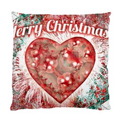 Vintage Colorful Merry Christmas Design Cushion Case (two Sided)  by dflcprints