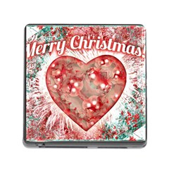 Vintage Colorful Merry Christmas Design Memory Card Reader With Storage (square) by dflcprints