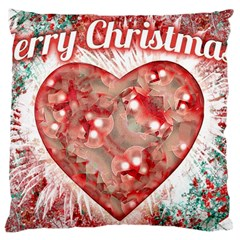 Vintage Colorful Merry Christmas Design Large Cushion Case (two Sided)  by dflcprints