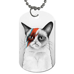 Grumpy Bowie Dog Tag (two Sided)  by Olechka
