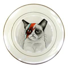 Grumpy Bowie Porcelain Display Plate