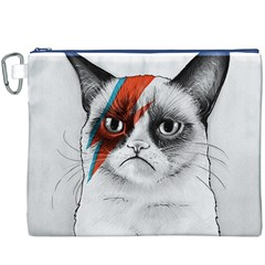 Grumpy Bowie Canvas Cosmetic Bag (XXXL) by Olechka