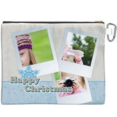 Merry Christmas By Joely   Canvas Cosmetic Bag (xxxl)   Tcmmjc2pl7bu   Www Artscow Com Back
