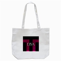 Pink Diva  Tote Bag (white)