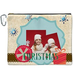 Merry Christmas By Xmas   Canvas Cosmetic Bag (xxxl)   0fmczstgr4xy   Www Artscow Com Front