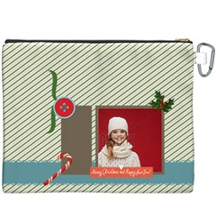 Merry Christmas By Xmas   Canvas Cosmetic Bag (xxxl)   0l9rumge3157   Www Artscow Com Back